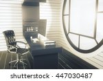 side view of office interior... | Shutterstock . vector #447030487