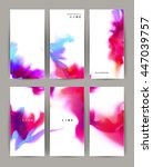 set of six modern banners.... | Shutterstock .eps vector #447039757