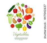 vegetable vector circle... | Shutterstock .eps vector #447042637