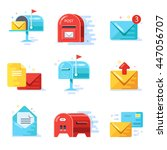 mail and correspondence... | Shutterstock .eps vector #447056707