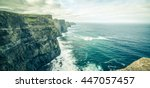 famous cliffs of moher  west... | Shutterstock . vector #447057457