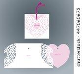 openwork  heart. laser cut...   Shutterstock .eps vector #447060673