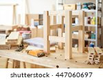 stool making in woodworking... | Shutterstock . vector #447060697