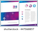a modern colorful annual report ... | Shutterstock .eps vector #447068857