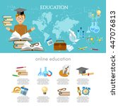 education infographic... | Shutterstock .eps vector #447076813