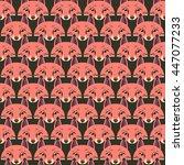 Pink Fox's Head On Green...