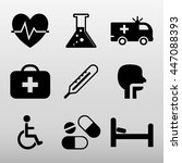medical icons set vector... | Shutterstock .eps vector #447088393