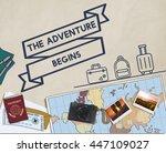 travel journey exploration... | Shutterstock . vector #447109027