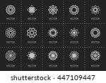 lineart ornamental logo... | Shutterstock .eps vector #447109447