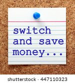 note card pinned to a cork...   Shutterstock . vector #447110323