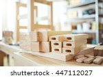 stool making in woodworking... | Shutterstock . vector #447112027