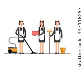 cleaning company. maid service. ... | Shutterstock .eps vector #447118297