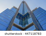 abstract modern building | Shutterstock . vector #447118783