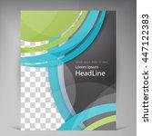 abstract vector modern flyers... | Shutterstock .eps vector #447122383