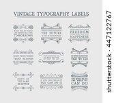vintage headline calligraphic... | Shutterstock .eps vector #447122767