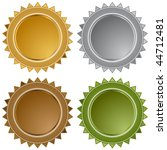 star seals isolated on a white...   Shutterstock .eps vector #44712481