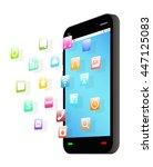 side view of black smartphone... | Shutterstock .eps vector #447125083