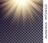 sun rays effect. simple golden... | Shutterstock .eps vector #447130123