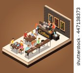 info graphic isometric coffee... | Shutterstock .eps vector #447138373