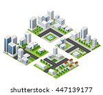 3d  kit metropolis of... | Shutterstock .eps vector #447139177
