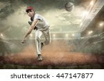 baseball players in action on... | Shutterstock . vector #447147877