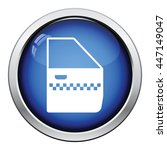 taxi side door icon. glossy... | Shutterstock .eps vector #447149047