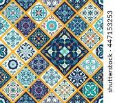 vector seamless texture.... | Shutterstock .eps vector #447153253