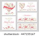 set templates for design... | Shutterstock .eps vector #447155167