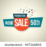 promotion now sale 50  off.... | Shutterstock .eps vector #447166843