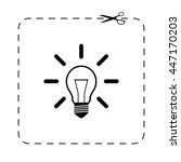 light bulb    black vector icon | Shutterstock .eps vector #447170203