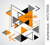 abstract geometric vector... | Shutterstock .eps vector #447170533