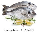 Two Fresh Dorada Fishes With...