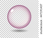 transparent glass sphere with... | Shutterstock .eps vector #447191437
