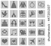 vector set of color square... | Shutterstock .eps vector #447201337