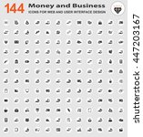 money and business icons for... | Shutterstock .eps vector #447203167