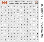 internet and communication... | Shutterstock .eps vector #447203173