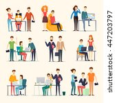 business characters. co working ... | Shutterstock .eps vector #447203797