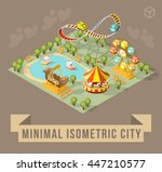 set of isolated isometric... | Shutterstock .eps vector #447210577