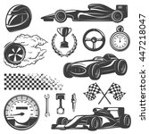 racing black and isolated icon... | Shutterstock .eps vector #447218047