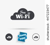 free wifi sign. wifi symbol.... | Shutterstock .eps vector #447223477