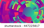 colorful neon circles... | Shutterstock .eps vector #447225817