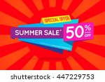summer sale sign banner poster... | Shutterstock .eps vector #447229753