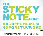 vector of stylized paper font... | Shutterstock .eps vector #447238843