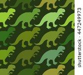 tyrannosaurus seamless pattern.    Shutterstock .eps vector #447249973