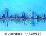 Dubai Skyscrapers Painting ...