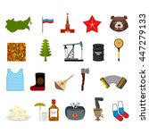 russia set icons. traditional...