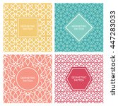 set of vintage mono line... | Shutterstock .eps vector #447283033