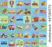 cute seamless baby pattern. set ...   Shutterstock .eps vector #447283573