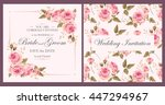 vintage wedding invitation | Shutterstock .eps vector #447294967