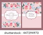 Stock vector vintage wedding invitation 447294973